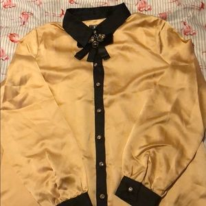 Tops - NEW Gold and black blouse